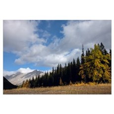 Storm Clouds Over Queen Elizabeth Range In Fall, J Framed Print