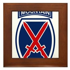 10th Mountain Division.psd.png Framed Tile