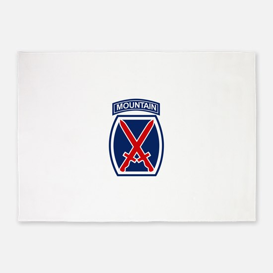 10th Mountain Division.psd.png 5'x7'Area Rug