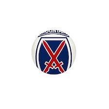 10th Mountain Division.psd.p Mini Button (10 pack)