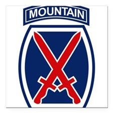 "10th Mountain Division.p Square Car Magnet 3"" x 3"""