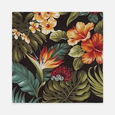 Hawaiian flowers Queen Duvet