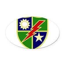 75th Ranger Regiment.png Oval Car Magnet