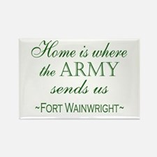 Funny Welcome home army wife Rectangle Magnet
