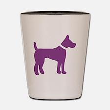 dog purple 3 Shot Glass