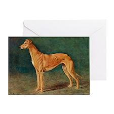 Greyhound Watercolor Greeting Card
