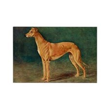Greyhound Watercolor Rectangle Magnet