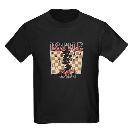 Chess Battle On! Kids Dark T-Shirt