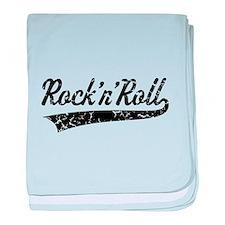 Rock 'n' Roll Vintage (Black) baby blanket