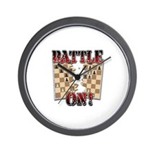 Chess Battle On! Wall Clock