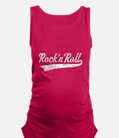 Rock 'n' Roll Vintage (White) Maternity Tank Top