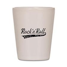 Rock 'n' Roll Vintage (Black) Shot Glass