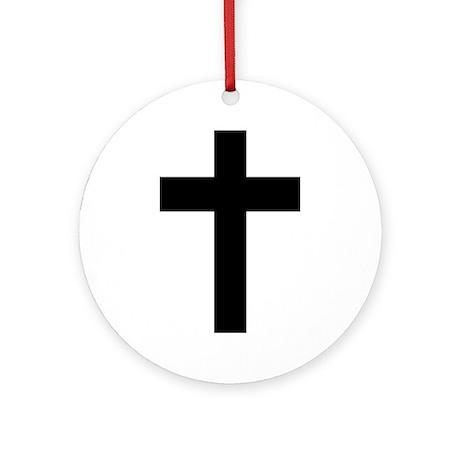 Christian Cross Ornament (Round)