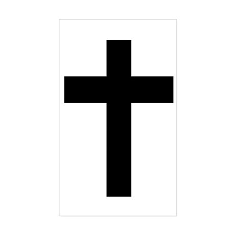 Christian Cross Rectangle Sticker