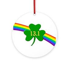 Shamrock 13.1 half-marathon Ornament (Round)