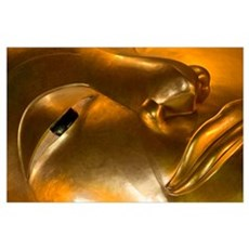 Detail Of Reclining Buddha Statue Poster