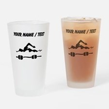 Custom Swimmer Drinking Glass
