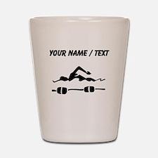 Custom Swimmer Shot Glass