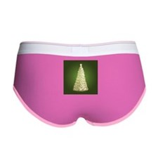 Christmas Tree Gold Green Women's Boy Brief