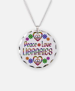 Peace Love Libraries Necklace
