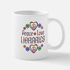 Peace Love Libraries Small Small Mug