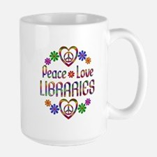 Peace Love Libraries Mug