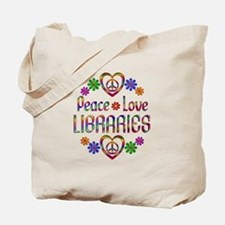 Peace Love Libraries Tote Bag