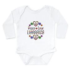 Peace Love Libraries Long Sleeve Infant Bodysuit