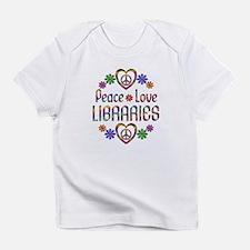 Peace Love Libraries Infant T-Shirt
