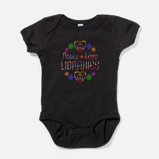 Peace Love Libraries Baby Bodysuit