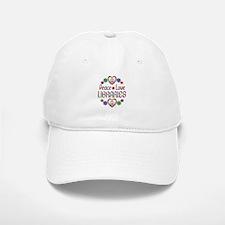 Peace Love Libraries Baseball Baseball Cap