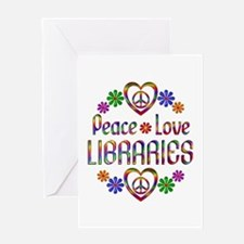 Peace Love Libraries Greeting Card