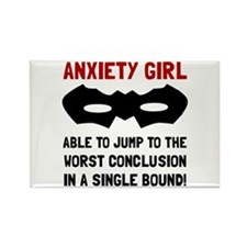Cute Anxiety disorders Rectangle Magnet