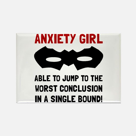 Cute Anxiety disorder Rectangle Magnet