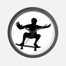 THE SKATEBOARDER Wall Clock