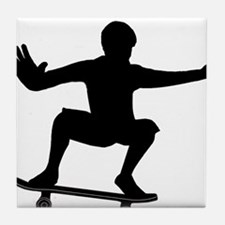 THE SKATEBOARDER Tile Coaster
