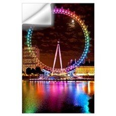 Big Wheel Aka London Eye Lit Up With The Rainbow C Wall Decal
