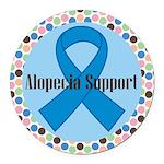Alopecia Awareness Ribbon Logo Round Car Magnet