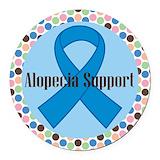 Alopecia awareness Round Car Magnets
