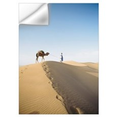 Camel and Leader in desert Wall Decal