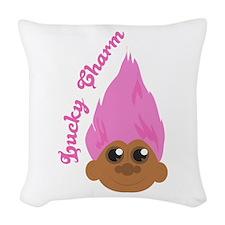 Lucky Charm Woven Throw Pillow