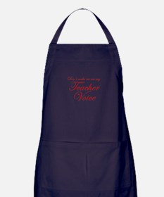 dont make me use my teachers voice-eds-red Apron (
