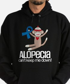 Alopecia Blue ribbon support Hoodie