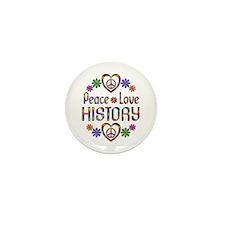 Peace Love History Mini Button (10 pack)
