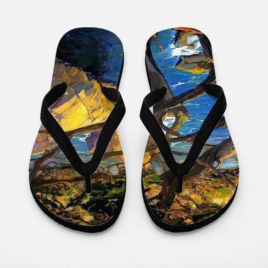 Trees Monterey Art Flip Flops