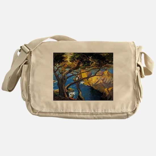 Trees Monterey Art Messenger Bag
