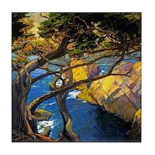 Trees Monterey Art Tile Coaster