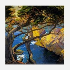 Trees Monterey Art Tile Coaster