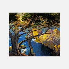Trees Monterey Art Throw Blanket