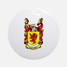 MALLORY Coat of Arms Ornament (Round)
